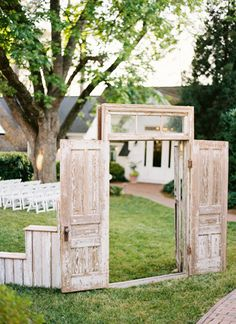 outdoor chapel wedding set-up | Graham Terhune