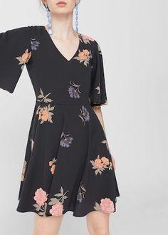 Fluted hem dress -  Women | MANGO USA