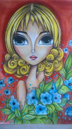 Motifs Applique Laine, Plaster Sculpture, Abstract Face Art, African Art Paintings, Indian Folk Art, Happy Paintings, Beauty Art, Whimsical Art, Anime Art Girl