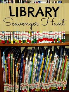 Summer learning with a library scavenger hunt. Fun way to spend a hot summer afternoon with the kids.