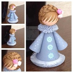 Doll NOTE Love the hair--is it thin ribbon curled and glued on? Quilling Dolls, Quilling Work, Origami And Quilling, Quilling Craft, Quilling Patterns, Quilling Designs, Paper Quilling, Quilling Ideas, Ribbon Curls