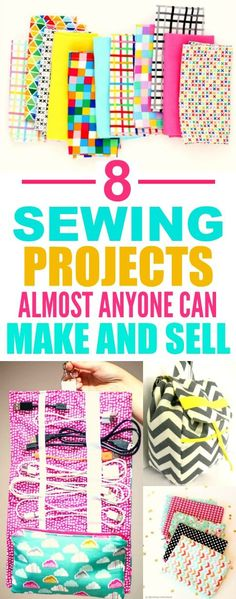 These 8 easy sewing projects you can make and sell are THE BEST! I'm so glad I found this AWESOME post! I am DEFINITELY pinning for later!