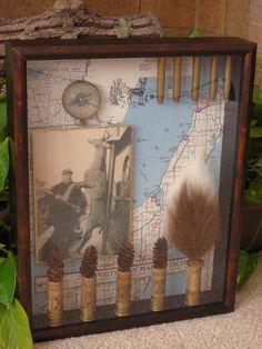 Custom Memory Shadow Box--Keepsake and Photo Collage. $85.00, via Etsy.