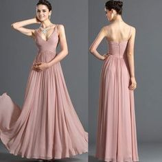 Cheap gowns children, Buy Quality gown party directly from China gown kids Suppliers: New Prom Dress Pink Chiffon Pleats Vestidos De Festa Spaghetti Straps Floor-Length Party Prom Gown Dusty Rose Bridesmaid Dresses, Pink Prom Dresses, Wedding Party Dresses, Homecoming Dresses, Dresses 2013, Gowns 2017, Chiffon Dresses, Dresses Dresses, Party Gowns
