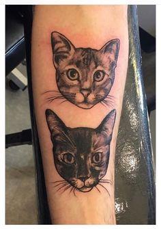Our cats Tilki & Reynarde tattooed