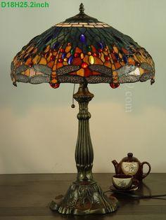 Dragonfly Tiffany Lamp18S4-1BT305