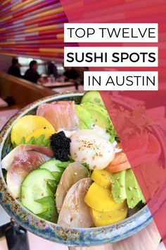 I went all over Austin looking for the best sushi in town! Here are my twelve favorite spots. From Philadelphia rolls to bento boxes to salmon nigiri, this list has it all. #austintexas #atxeats #visitaustin