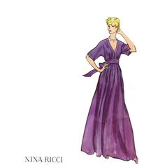 Vintage VOGUE Paris Original 2886 Nina Ricci by JFerrariDesigns, $65.00