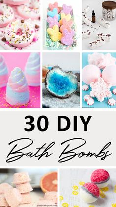 We've rounded-up 30 of the best bath bombs that you can make yourself. These won't cost you a fortune to create and some can be made in as little as 10 minutes! Diy Crafts For Kids, Crafts To Sell, Gift Crafts, Bath Fizzies, Bath Salts, Best Bath Bombs, Bath Boms, Homemade Bath Bombs, Sugar Scrub Homemade