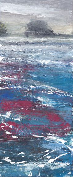 Painting of an Island off the coast of St Ives Cornwall