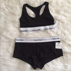 Calvin Klein Set Calvin Klein bralette & boy short.  » Offers through the offer button  » Bundling discounts available  » No trades » NWT Calvin Klein Intimates & Sleepwear Bras