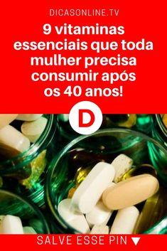 vVitaminas para mulheres | 9 vitaminas essenciais que toda mulher precisa consumir após os 40 anos! | É muito importante esta informação. Leia e saiba.