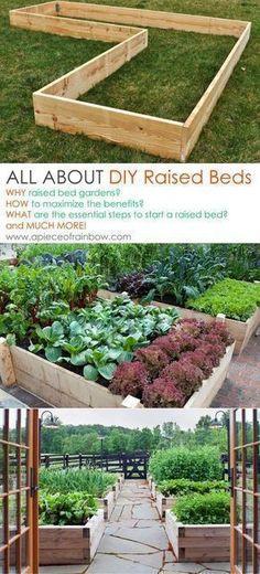 All About Raised Beds: Ultimate guide on how to build the most productive raised bed gardens! Lots of tips and resources! - A Piece Of Rainbow #raisedgardenbeds