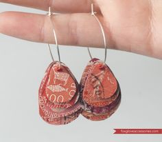 ReFab Diaries: Guest ReFab: Postage Stamp Earrings... {Foxglove Accessories}---I'm so making some of these!!!!