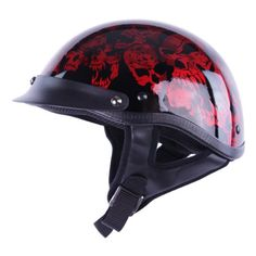 Half Helmets - HCI-100 Wine Screaming Skulls Half Helmet L $44.95 http://skullcart.com/hci-100-wine-screaming-skulls-half-skull-helmet-l/ #skull #helmet #motorcycle #skullcart