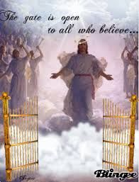 Jesus At The Gate Of Heaven!!! Jesus Christ, Beautiful Places, Believe, Encouragement, Lord, Baseball Cards, History, Gate, Heaven