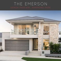 Residence in Hammond Park by Ben Trager Homes Modern House Exterior Ben Hammond Homes Park resi Residence Trager Minimalist House Design, House Front, Modern House Design, House Exterior, House Styles, Double Storey House, Modern House Exterior, House Designs Exterior, House Colors