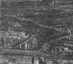 "G. Vasi's ""Grand View of Rome"" 1765: Aurelian Wall between S. Paolo Gate and S. Sebastiano Gate"