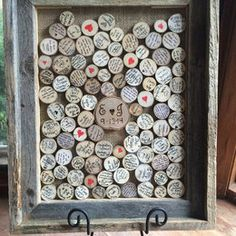 Fingerprint Tree Design: Wood slice rustic theme wedding ... | IdealPin
