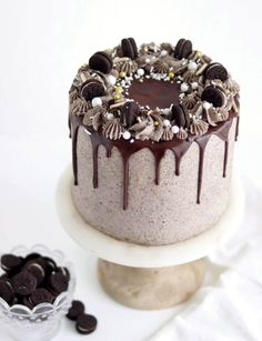 Layer Cake Oreo, Chocolate Oreo Cake, Decadent Chocolate Cake, Chocolate Cheesecake, Coconut Cheesecake, Chocolate Birthday Cakes, Chocolate Drizzle Cake, Oreo Cheesecake Cake, Decadent Cakes