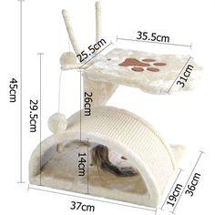 dealsdirect.com.au - Cat Scratching Poles Post Furniture Tree House Beige Cat Scratching Tree, Beige, House, Furniture, Gatos, Home, Home Furnishings, Homes, Ash Beige