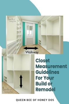 Find out how much room you need to make that closet that you have been dreaming about. THis guide breaks down the minimum amount of floor space required and the standard and minimun heights needed to maximize your closet's potential. #closets #renovations #remodeling #storage #design Reach In Closet, Build A Closet, Closet Space, Storage Design, Storage Ideas, Storage Spaces, Small Closets, Dream Closets, Closet Island