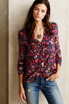Moonflower Henley - anthropologie.com