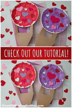 Paper Plate Valentine Hot Air Balloon – Kid Craft Balloon Crafts, Valentine's Day Crafts For Kids, Glue Crafts, Paper Hearts, Crepe Paper, Valentine Day Crafts, Church Ideas, Hot Air Balloon, Paper Plates