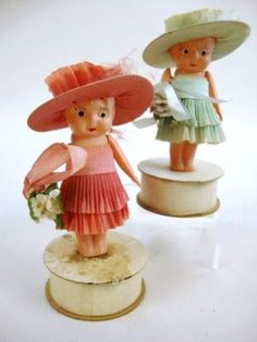 Celluloid Bridesmaids Candy Containers