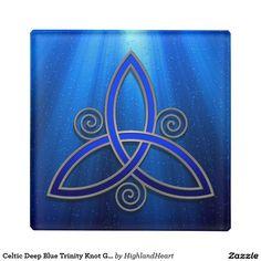 Celtic Deep Blue Trinity Knot Glass Coasters Glass Coaster