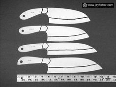Chef's knives, large chopping, kitchen, professional cook's knives, cutlery, fine handmade custom knives for the kitchen
