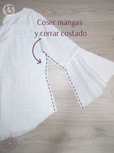 Cotton blouse Easy sewing step by step. sewing for beginners. Sewing Tutorial Free mold in pdf. Sewing Patterns Free, Free Sewing, Sewing Tutorials, Diy Kleidung, Diy Presents, Design Blog, Cotton Blouses, Sewing For Beginners, Learn To Sew
