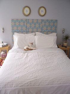 Wred Canvas Headboards Super Easy Headboard Idea Stretch Fabric Of Your Choosing Over Nail To Then The S