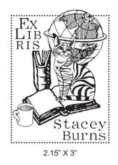 Tabby Cat Custom Ex Libris Bookplate by AsspocketProductions, $19.99