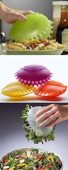 Quickly snap up a full serving of pasta, salad and more with a single hand