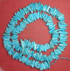 "Real Sleeping Beauty Turquoise Chip Beads 18"" Std From Arizona  USA Lot S12"