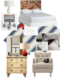 The Polished Pebble: CG's New Apartment: The Bedroom  Use this link for E Design later...