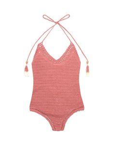 69b64da463d78 She Made Me Essential crochet swimsuit Crochet Bathing Suits, Bathing Suit  Top, Crochet Halter