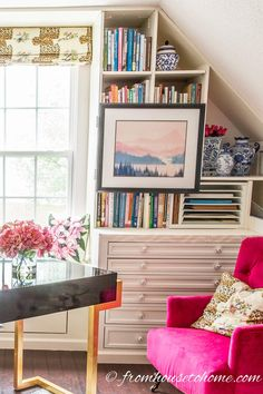 home office makeover pinterest.  Office One Room Challenge Week 6 Feminine Glam Home Office Makeover  Pinterest  Window Benches Bonus Rooms And Extra Storage And