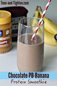 Chocolate Peanut Butter Banana Protein Smoothie  - this is my favorite breakfast!