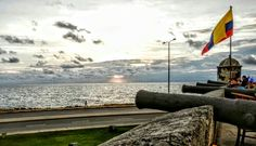 Beach from city wall, Cartagena, Colombia #BeachThursday. #travel. #JustGo!