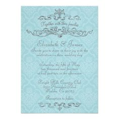 ReviewSimple Luxury Blue Damask Wedding Invitations Personalized Announcementstoday price drop and special promotion. Get The best buy