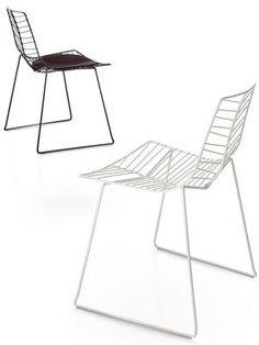 Chaise empilable Leaf / Métal Blanc - Arper