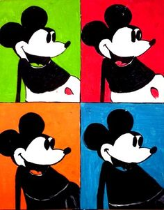 Andy Warhol doing Mickey Mouse - POP ART at its best...
