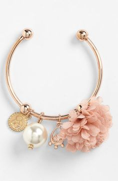 dusty rose flower bracelet :: wishlist worthy!
