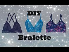 DIY Bralette, Sewing project for beginners - YouTube