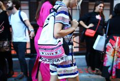 The Best Street Style From London Fashion Week – Vogue. Great Nasir Mazhar backpack