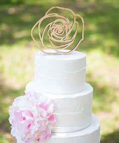 Z Create Design Wood Rose #Wedding Cake Topper #zulilyfinds