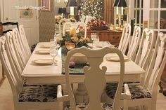 painted dining room furniture | ... with paint here french dining room table and chairs in vintage white