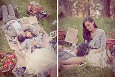 Picnic shoot - Gorgeous relaxed poses with lovely props       Just add your family with some of your favorite books. @gmcwatters